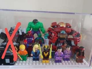 Lego Marvel and DC Superheroes Minifigures Lot 17 pcs. Authentic, displayed only