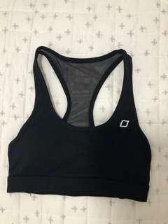 Lorna Jane black sports bra crop xs