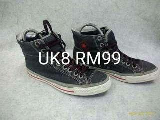 Converse denim hi cut uk8