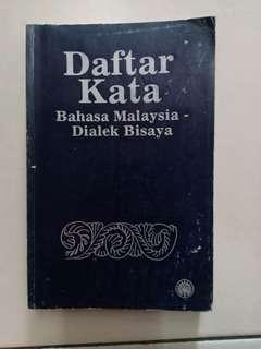 Daftar Kata Bahasa Malaysia - Dialek