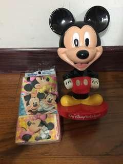 🚚 Mickey 搖頭公仔+Disney 面紙