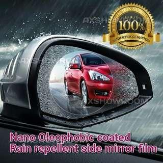 Rain - Resistant coated Hydrophobic soft film TPU membrane for rear side mirrors