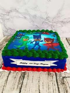 🚚 PJ Mask Edible Printing Cream Cake