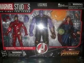 Marvel Legends 3 pack (iron man, thanos and dr.strange)