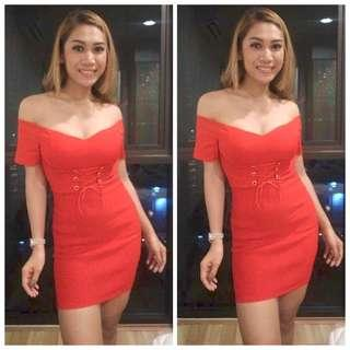 🚚 Off Shoulder Bodycon Dress