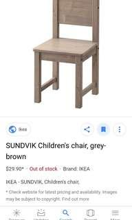 Ikea sundvik children / kid chair