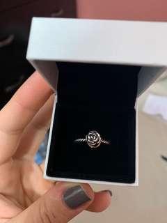 Rose- two tone Pandora ring