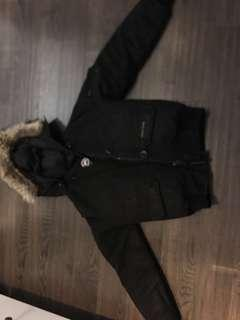 Canada goose black bomber winter coat sz xs- authentic
