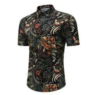 (PO) Summer Casual Floral Shirt