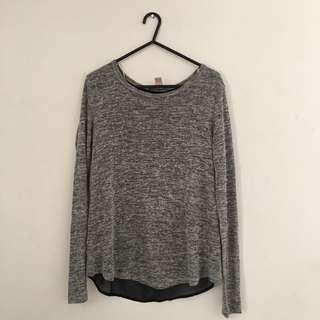 Forever21 Grey Long Sleeve Top