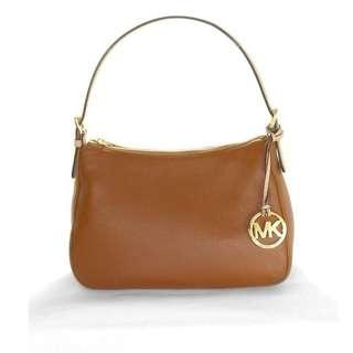 REPRICED! Michael Kors Jet Set Item Leather Small Shoulder Bag Brown