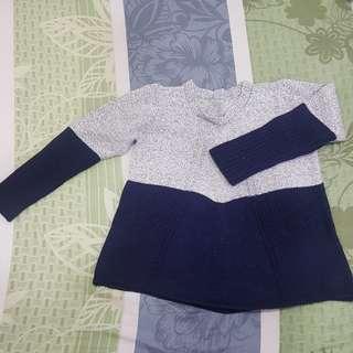 藍灰色針織上衣