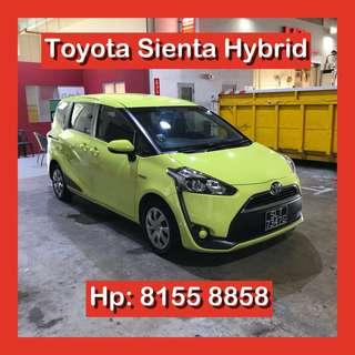 Toyota Sienta Hybrid MPV Grab Car Go Jek Rental