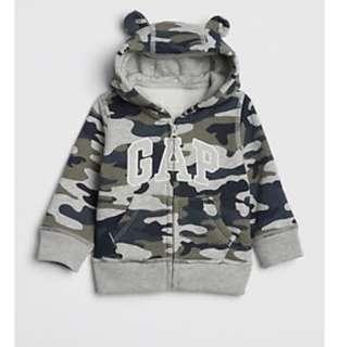 🚚 BN GAP Baby Boy Bear Camo Hoodie Jacket 18-24mths!