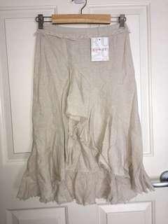 Natural midi skirt