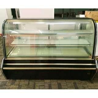 6 FEET CLEAR CURVED CAKE CHILLER DISPLAY SHOWCASE