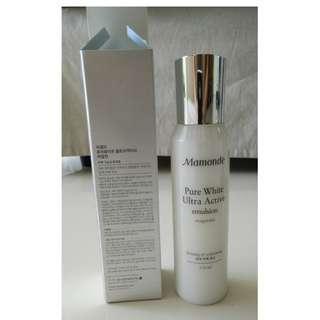 Brand New Mamonde Pure White Ultra Active Emulsion 150ml Firming Whitening