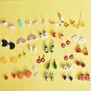 cute dangling earrings 🍒