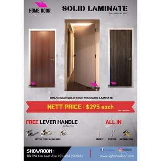 Laminated Solid Wood Door for HDB & BTO