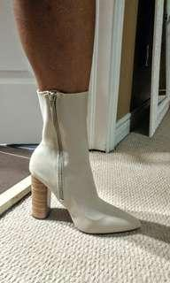 Just Fab Nude Boots (size 10)
