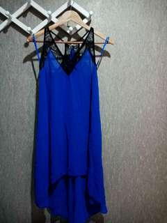 Miss Selfridge Sky Blue Top/Dress