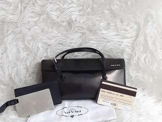 Authentic PRada mini clutch.. Very Good Condition.. Super cute and Rare item🎁🍰🌻