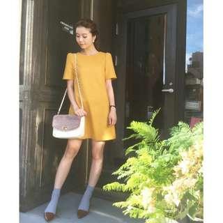 日本品牌 Mercuryduo 黃色洋裝 紗榮子代言款