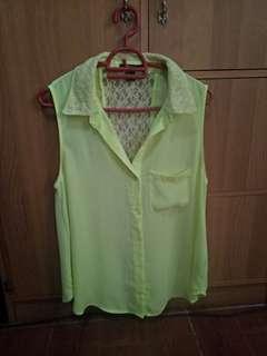 f21 semi sheer blouse