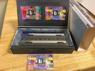 特別珍藏1998年 MTR 地鐵東涌綫紀念車票及機鐵模型兩架
