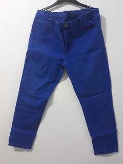 Jeans biru premium bigsize