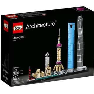 全新未開 Lego 21039 Architecture Shanghai ( 同系 Lego 21044 21043 21041 )