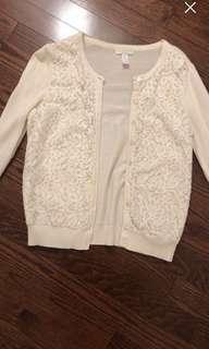 White lace cardigan size s
