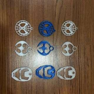 3D Keychains 3D Printed