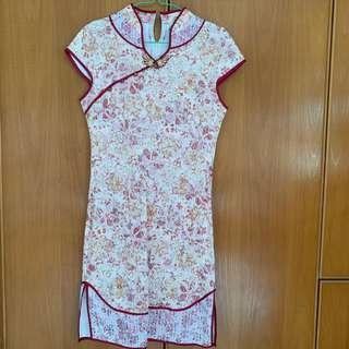 Mixed Florals Cheongsam Dress