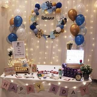 Backdrop for Birthday with Customise Name