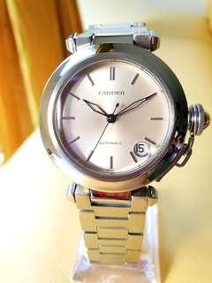 Cartier Pasha Ladies Silver Dial Date Automatic Steel