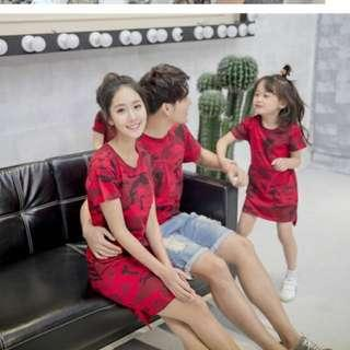 Family CNY matching outfit