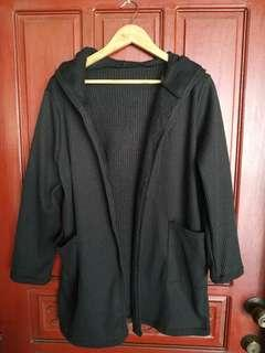 Black Knitted Sweater/Coat