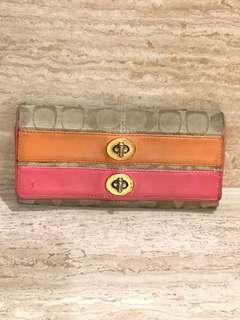 Coach Coral full size wallet