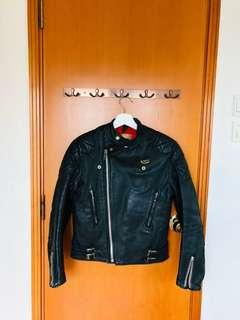 Vintage Lewis Leathers leather jacket sz36 black color ( not buco , supreme, off-white, rolex,  vans, alden)