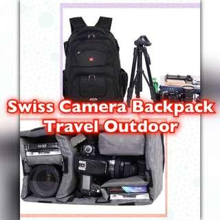 🚚 Camera Backpack Travel Outdoor Waterproof, Laptop Compatible for Sony Canon Nikon