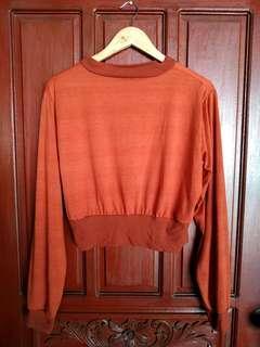 Rust Semi Crop Sweater