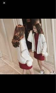 🆕 Knitted White Cardigan #MFEB20