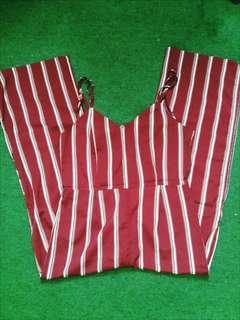 Maroon Stripe Jumpsuit