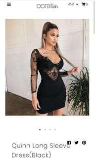 Black lace OOTD dress