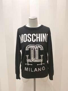 Moschino black white top logo