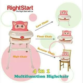 Right Starts 4 in 1 High Chair Flexi