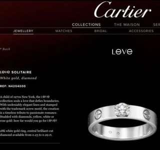 Cartier Love Solitaire Diamond Ring