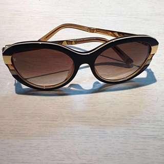 Reprice Authentic Louis Vuitton PETIT SOUPÇON CAT EYE Brown X Gold Authentic Lv Glasses Kacamata