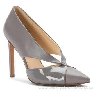 BNIB New Nine West Tayme Grey leather pumps size 9